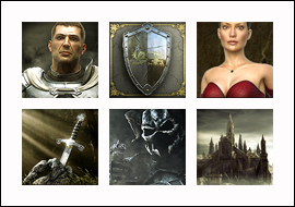 free Forsaken Kingdom slot game symbols