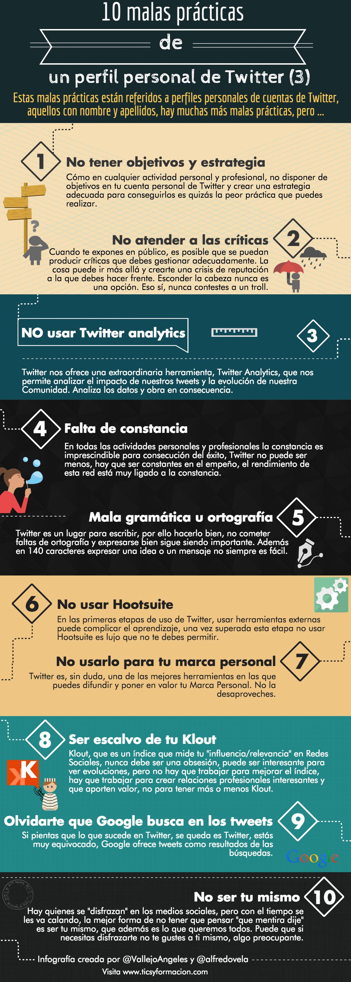 10 malas prácticas en un perfil personal de Twitter (III)