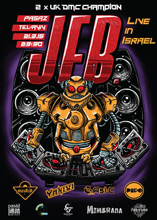 Poster for JFB live show in Tel-Aviv, Israel