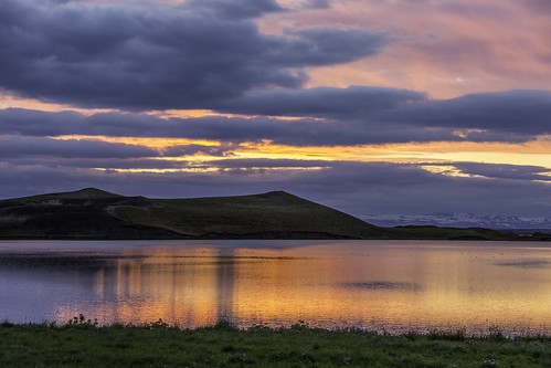 Lake Myvatn, Sunset