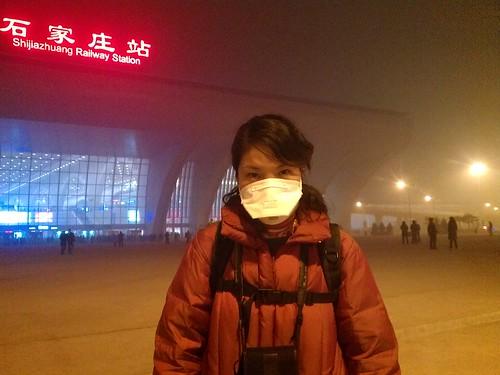 霧霾在大量燃燒煤炭的華北工業都市尤其嚴重。攝影:林吉洋