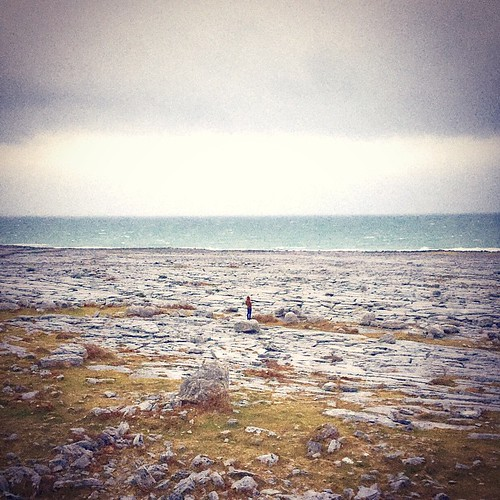 The Edge. #burren #national #park #irrland #west #cost #cliffs #of #moher #edge #alone #intothewild #spirit #freedom #confine #anima #scogliere #travelling #solitudine #pace #interiore