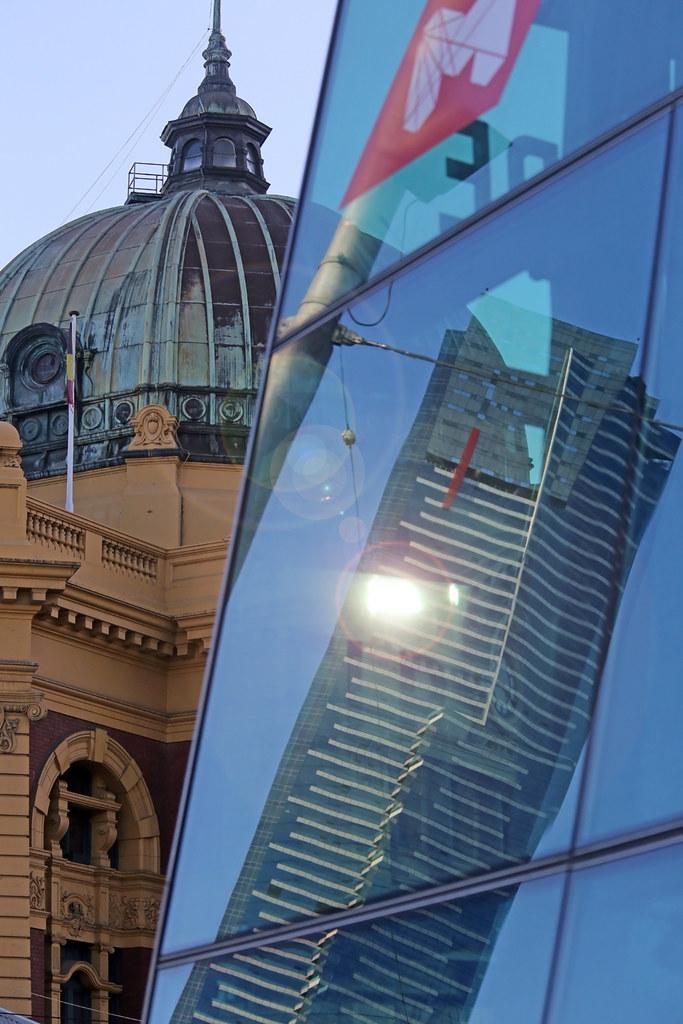 EUREKA REFLECTION, FLINDERS STREET STATION, MELBOURNE ©