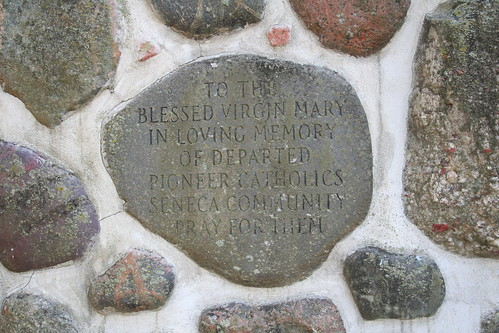 Grotto detail invoking blessing on Pioneer Catholics