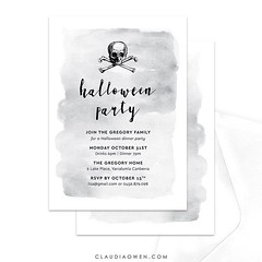 Anyone else excited about Halloween? It's not too late to send digital party invitations, just sayin' :skull: You can find this Halloween party invitation at @pingginvitations and in my shop ☠️ #halloween #halloweenparty #invitation #party #partysupplies