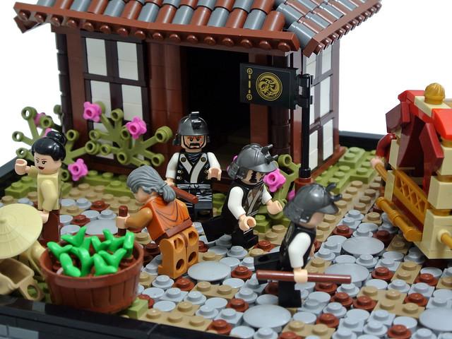 LEGO Japanese MOC - Ōzaka Traffic Accident