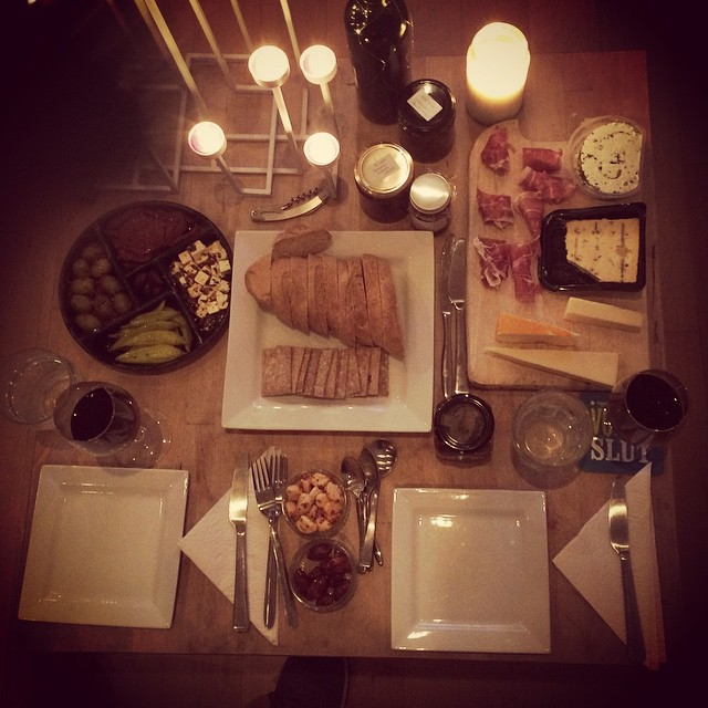New year in our house means all the cheese and all the chorizo and all the wine and all the anti pasto.