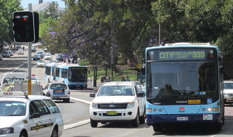 333 buses following each other, Paddington, Sydney