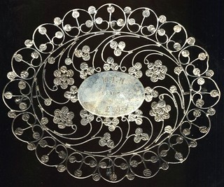 Dish made from Travencore silver coins 1143A