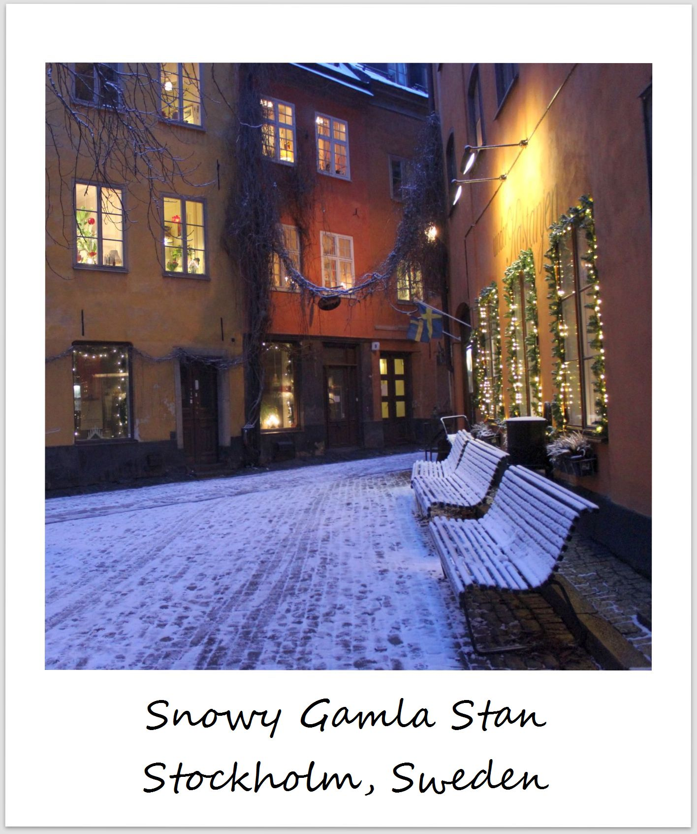 polaroid of the week sweden stockholm gamla stan