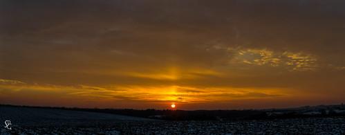 winter sunset dusk iowa dubuque dubuquecounty swissvalleyroad