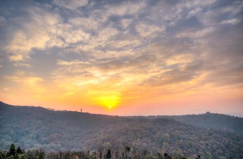 morning winter sky orange cloud sun sunlight mountain cold tree nature forest sunrise landscape high nikon warm top sigma hdr 1224 d800