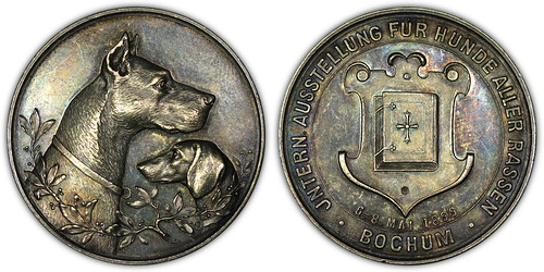 1899 German dog medal obverse