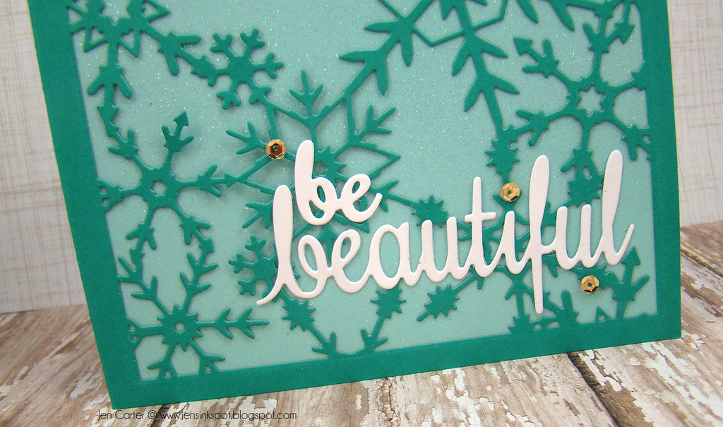 Jen Carter Frantic Stamper Reverse Snowflake Beautiful Closeup