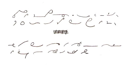 shorthand post