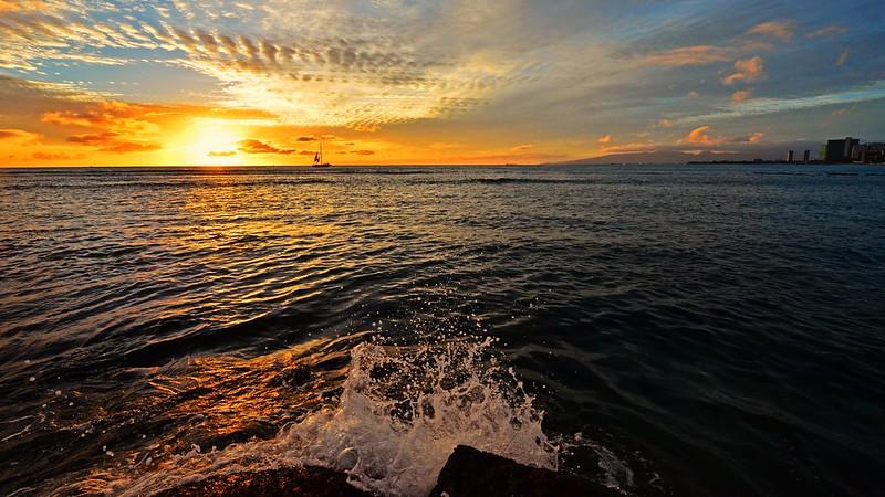 Sunset On Waikiki