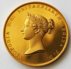 1841 Gold Victoria Presentation Medal obverse