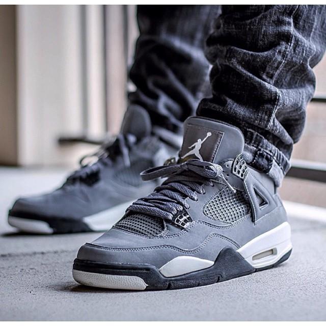 e7483730ac5c ... Air Jordan 4  Cool Grey  on the feet of  kickgame77 SneakerFiles.com