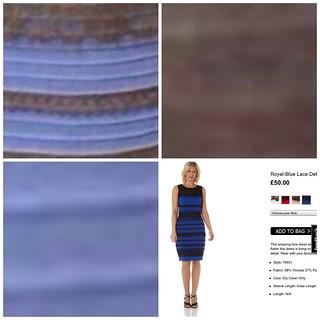 青と黒のドレス