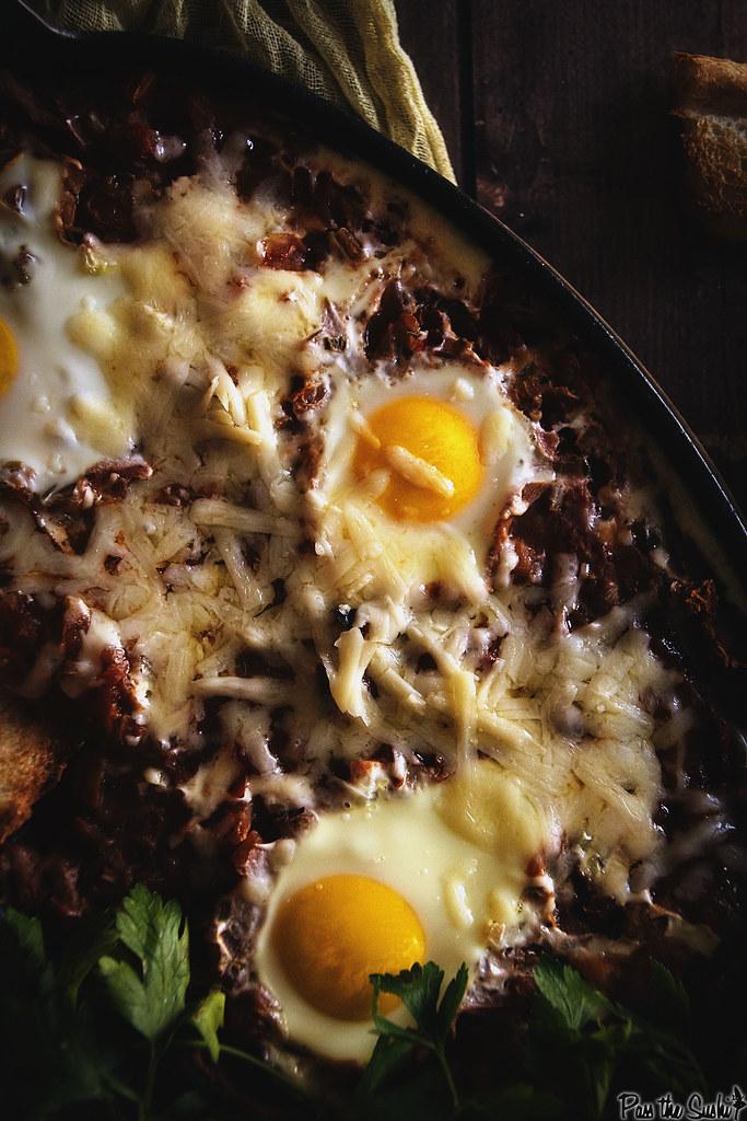 Salsa Baked Huevos | GirlCarnivore.com