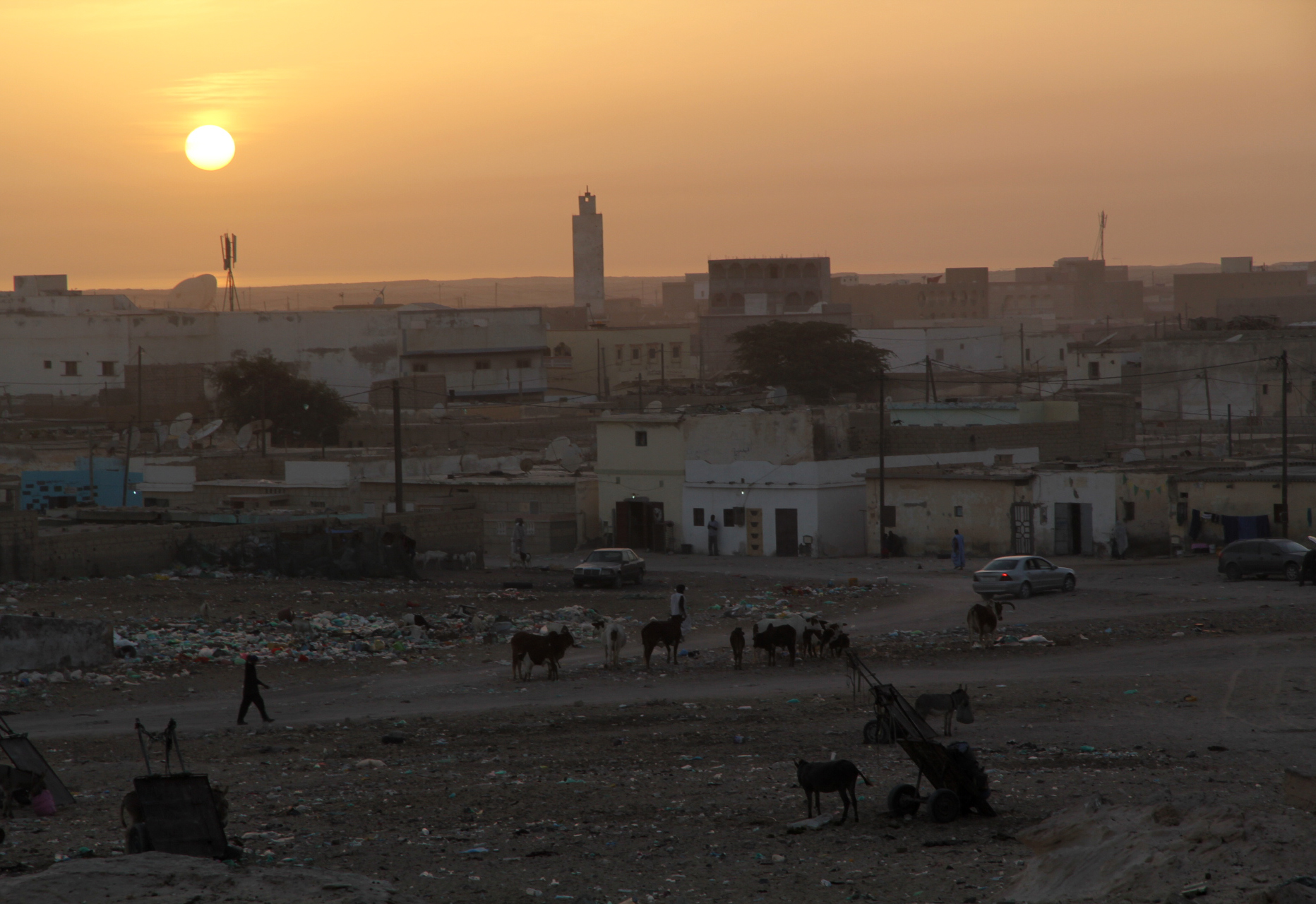 Nouadhibou durant posta de sol