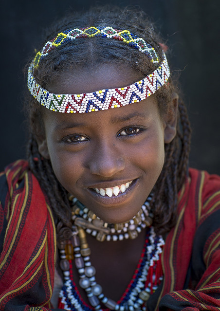 Afar Tribe Woman With Sharpened Teeth, Assaita, Afar Regional State, Ethiopia