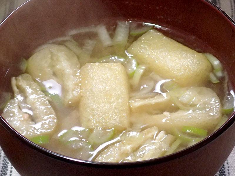 カブとお揚げさんの味噌汁