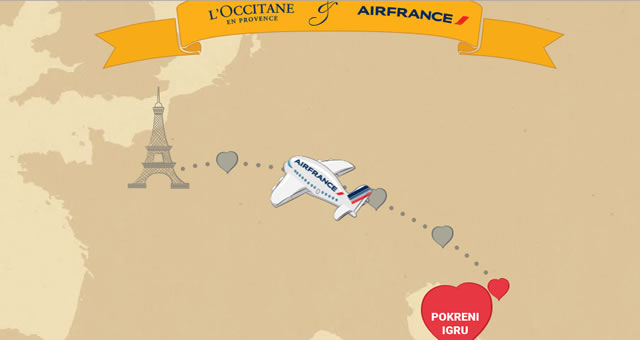 Air France, nagradna igra, Pariz, Valentinovo