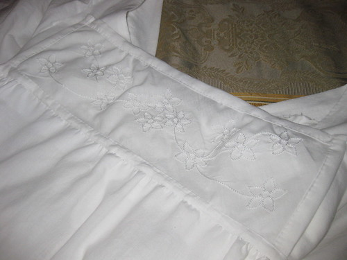 1800s Little White Dress Bib Front