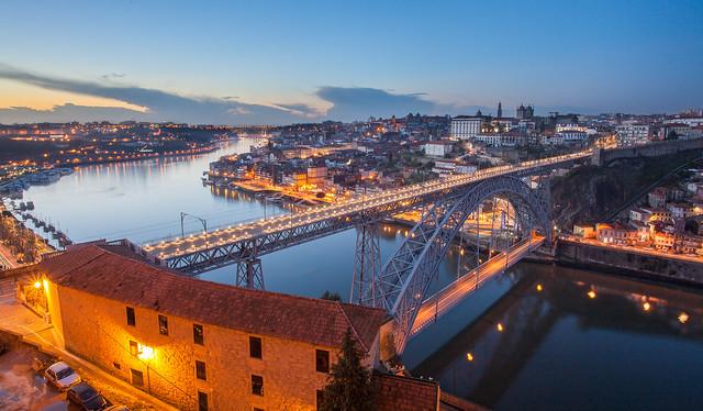 Gr gory De Nascimento - Pont Luis I @ Blue Hour (in Explore)