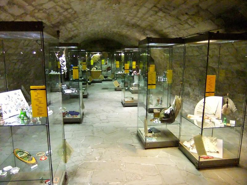 Trinkets display in the basement - Neuenburg Castle (Schloss Neuenburg) - Freyburg, Saxony-Anhalt, Germany