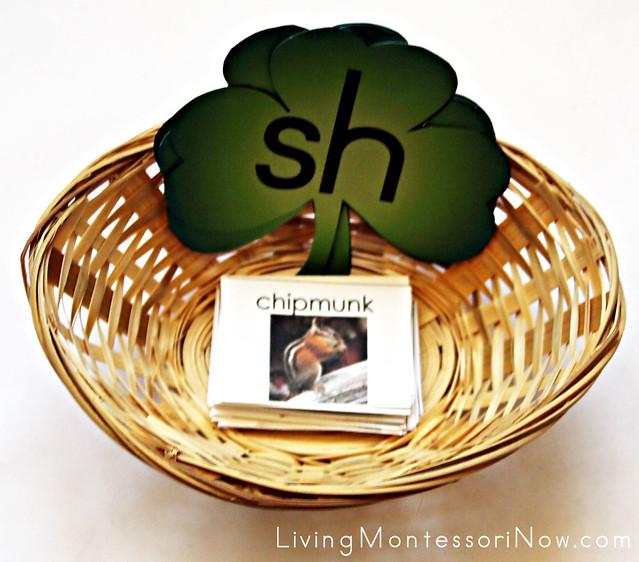sh, ch, and th St. Patrick's Day Sorting Basket
