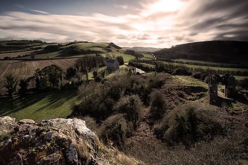 ireland castle church sunrise landscape ruins select rockofdunamase countylaois
