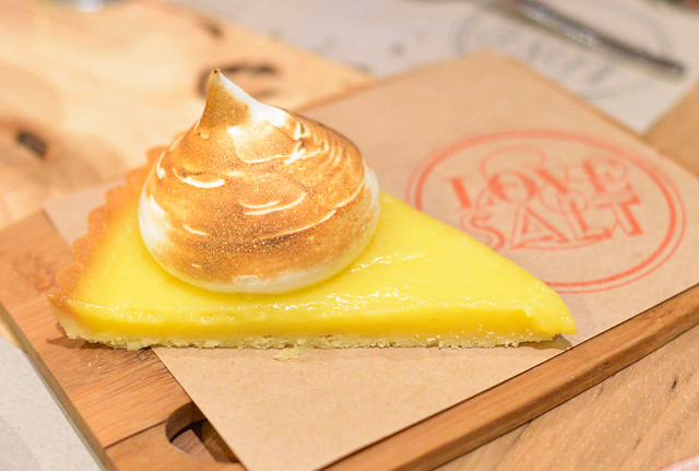 MEYER LEMON TART burnt meringue