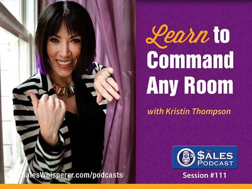 Kristin Thompson is on The Sales Podcast