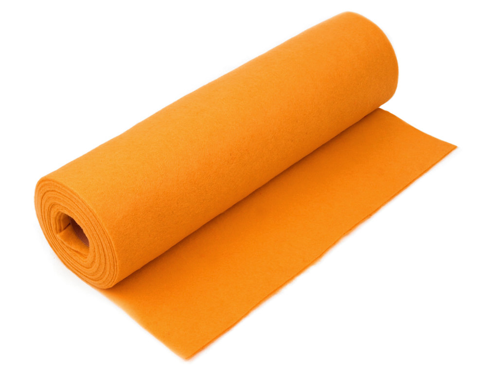 Filz Meterware, orange