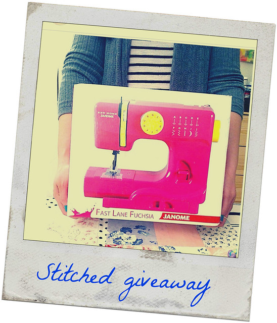 Enter the giveaway! Just join Stitched 2015 - and you can win this sewing machine!