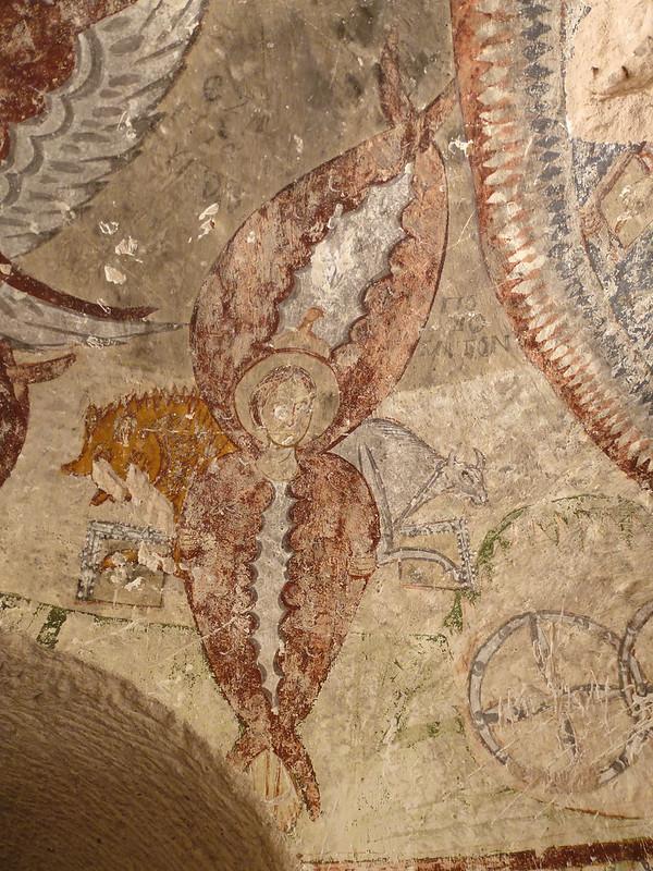 Turquie - jour 21 - Vallées de Cappadoce  - 034 - Çavuşin, Güllü Dere (vallée aux roses) - üç haçlı kilise (église des trois croix)