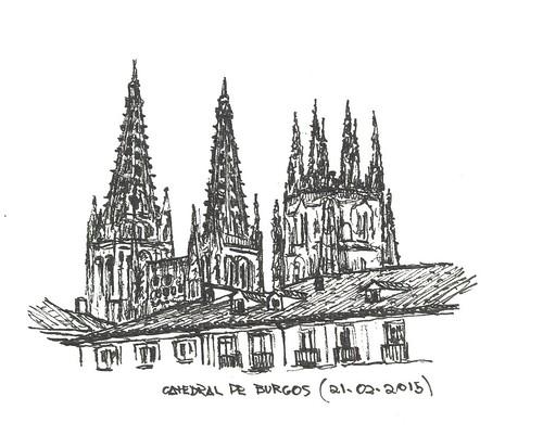 Catedral de Burgos, desde la Plaza Mayor