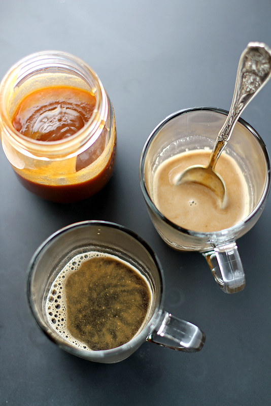 Salted Caramel Cashew Latte | girlversusdough.com @stephmwise