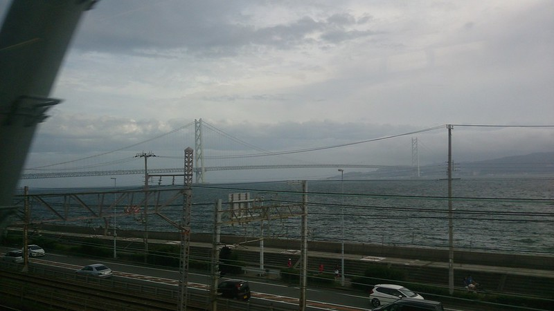 平成二六年八月一五日:車窓より明石海峡大橋