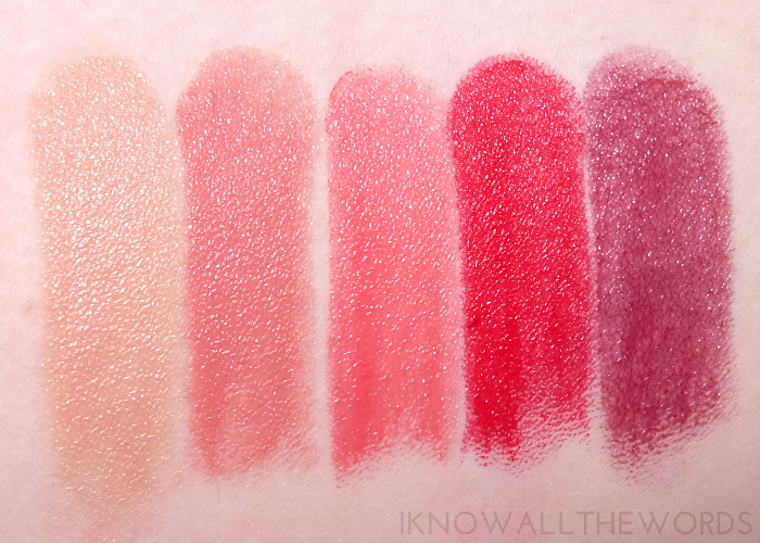 avon ultra colour indulgence lip colour swatches