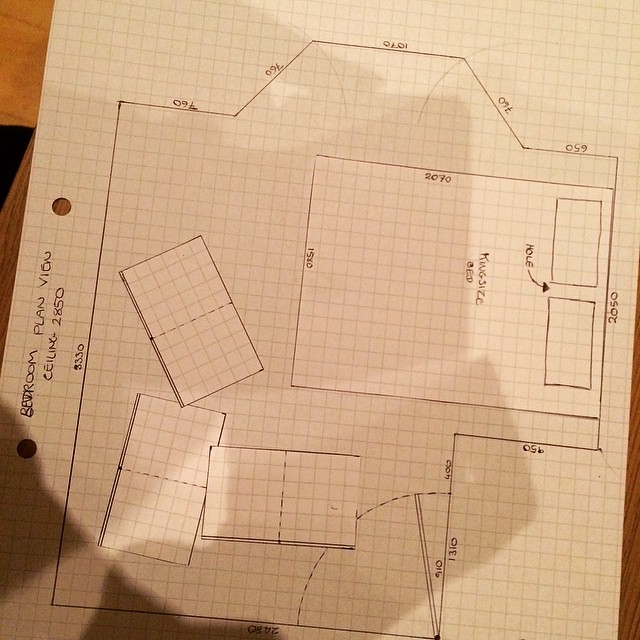 Trying to work out how much furniture will fit in our new flat.