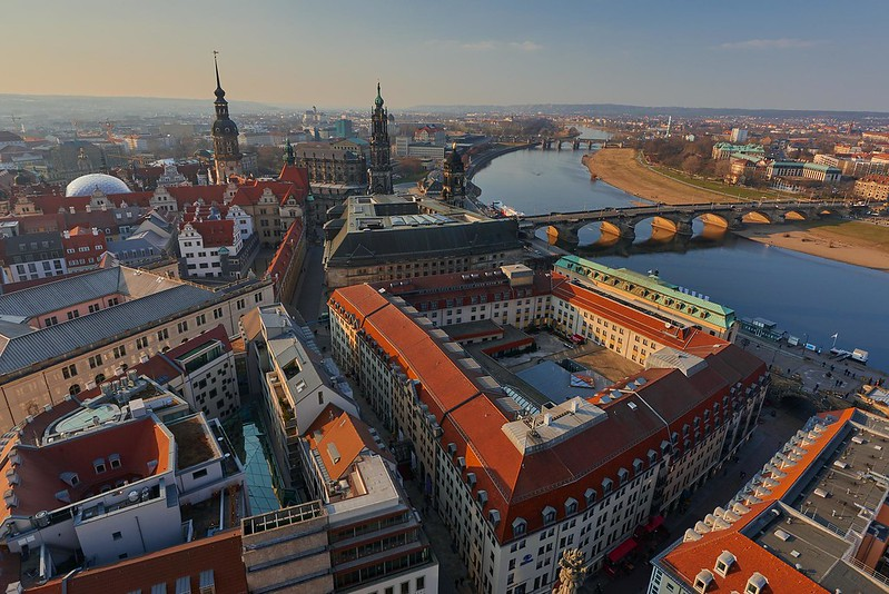 Old Town from above - Dresden