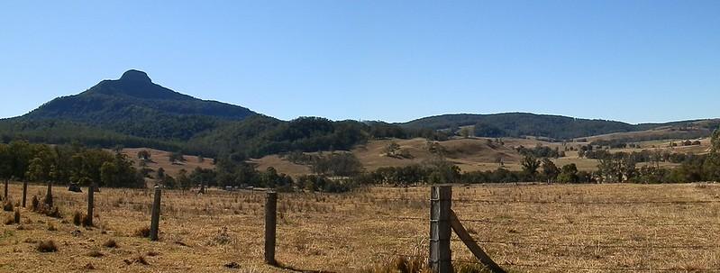 Koreelah National Park Landscape with Wilson's Peak