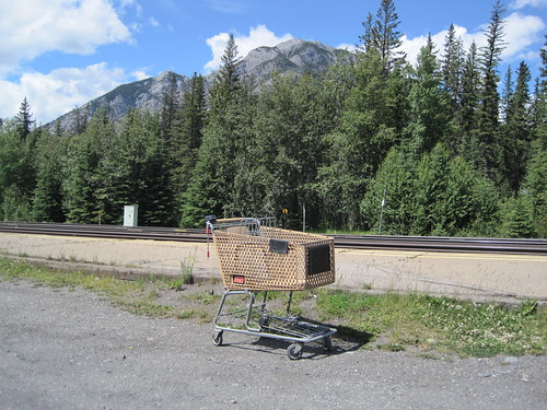 Abandoned Shopping Cart At The Banff Railway Station
