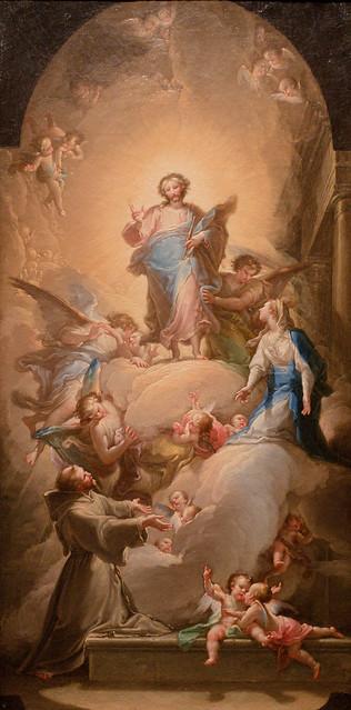 Vicente López y Portaña, The Vision of Saint Francis in La Porciuncula, c. 1781, Meadows