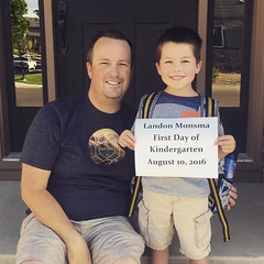Landon's off to kindergarten, crazy... #kindergarten