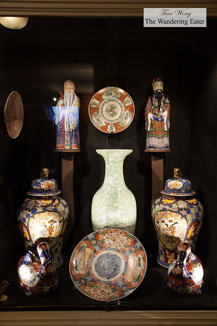 Antique Chinese vases and statues