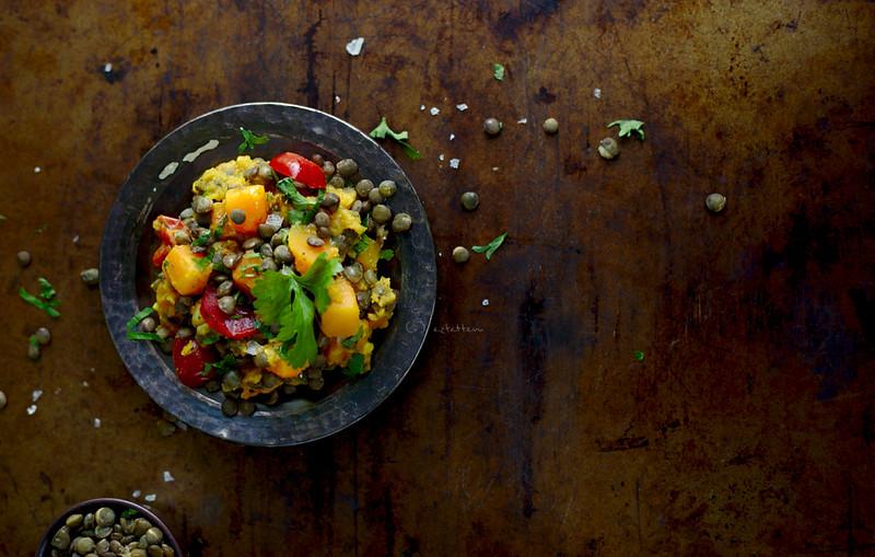 lentil- butternut squash curry